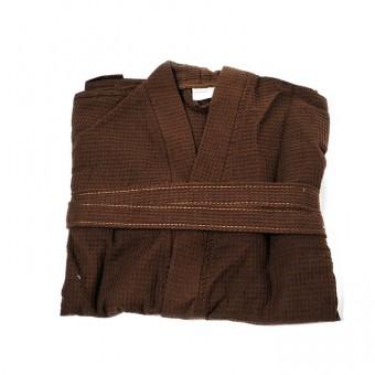 Chalatas vaflinis, kimono 250 gr/m2, rudas