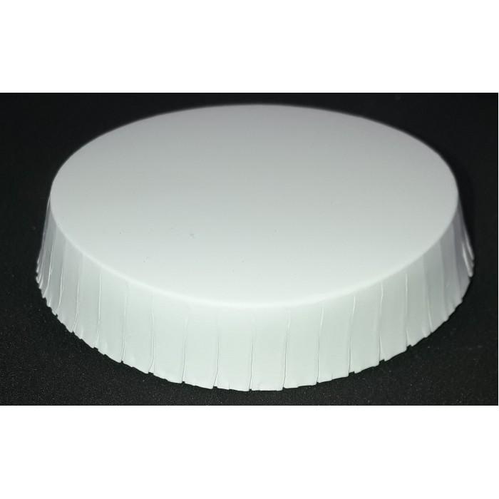 Popierinis stiklinės dangtelis baltas. 7.5 cm