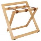 Bagažo stovas medinis su atrama ir odiniais diržais ROOOTZ
